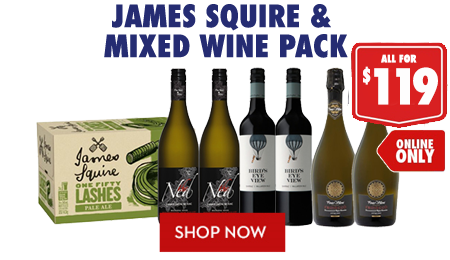 James Squire & Mixed Wine Pack $119 - Shop Now