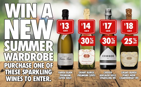 Win a NEW Summer Wardrobe - purchase one of these sparkling wines to enter
