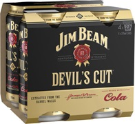 Jim Beam Devils Cut & Cola Can 375mL