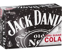 Jack Daniels & Zero Sugar Cola Can 375mL