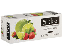 Alska Strawberry & Lime Cider Can 330mL (10Pack)