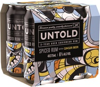 Untold Spiced Rum & Ginger Can 375mL