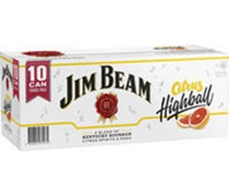 Jim Beam Citrus Highball 375mL (10 pack)
