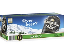 Canadian Club Premium and Dry Can 375mL (10 Pack)