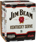 Jim Beam White Kentucky Serve 9% Can 250mL