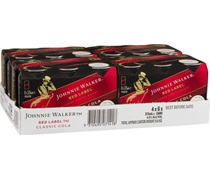 Johnnie Walker Red & Cola Can 375mL (6pack)
