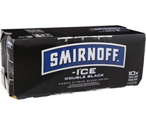 Smirnoff Ice Double Black Can 375mL (10 Pack)