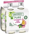 Smirnoff Pure Passionfruit Lime & Soda 300mL