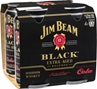 Jim Beam Black & Cola Can 5% ABV 375mL