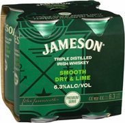 Jameson Smooth Dry & Lime Can 375mL